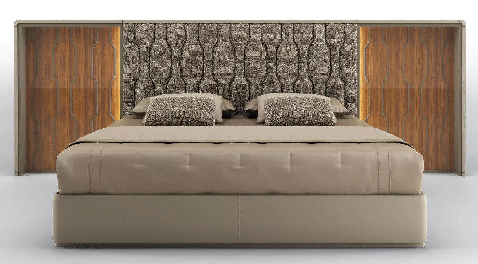 High End Stormy Nights King Size Bed
