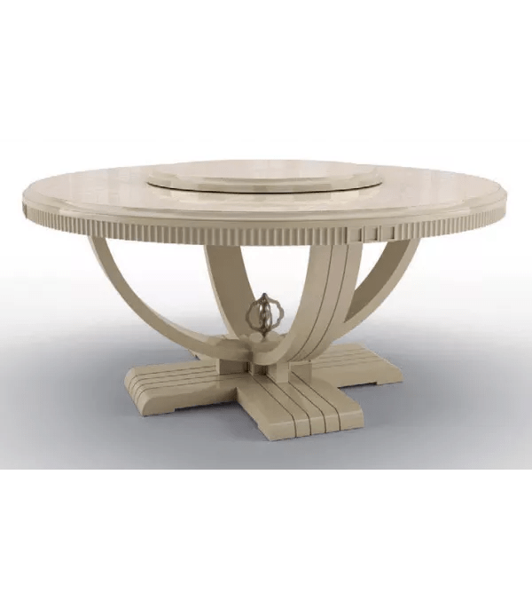 Beautiful Candle White Round Dining Table