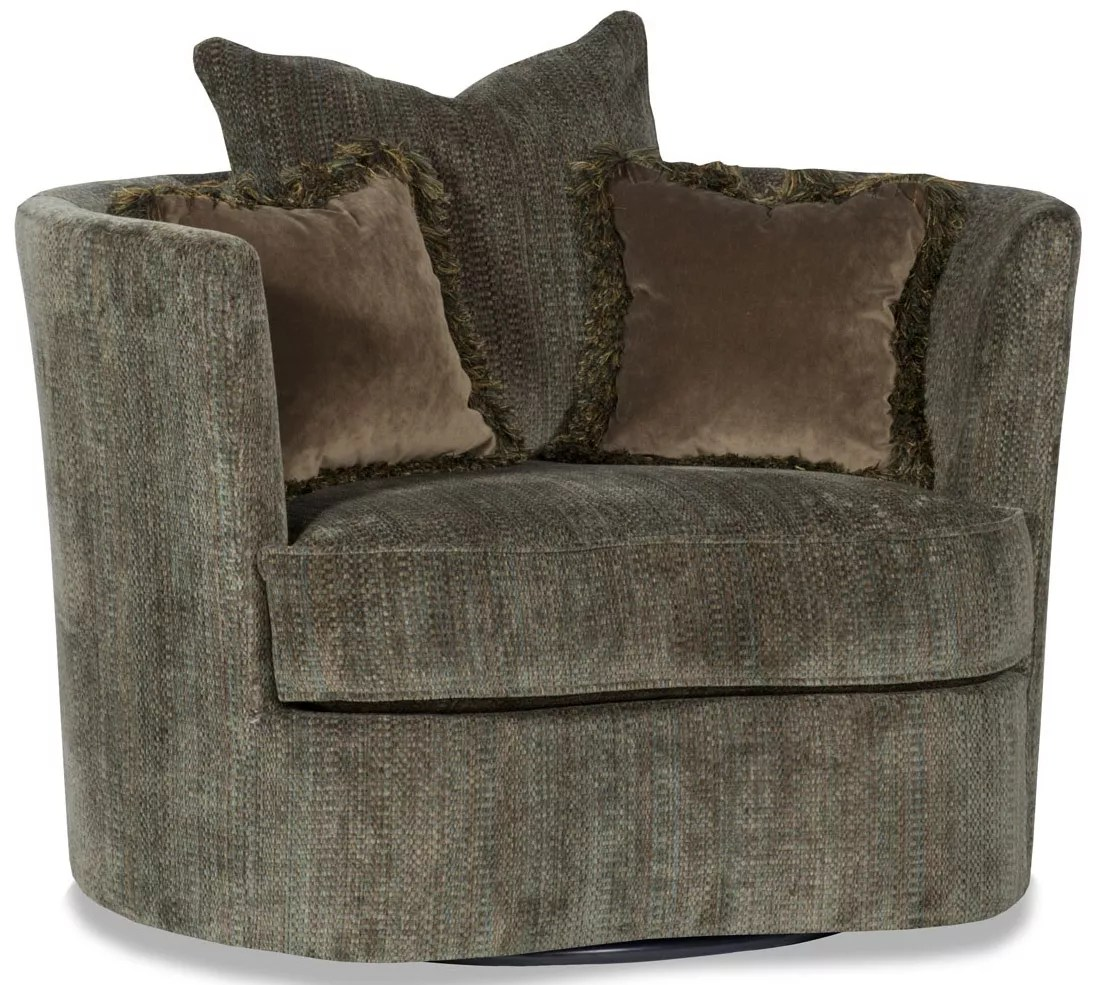 Comfy Round Swivel Accent Arm Chair