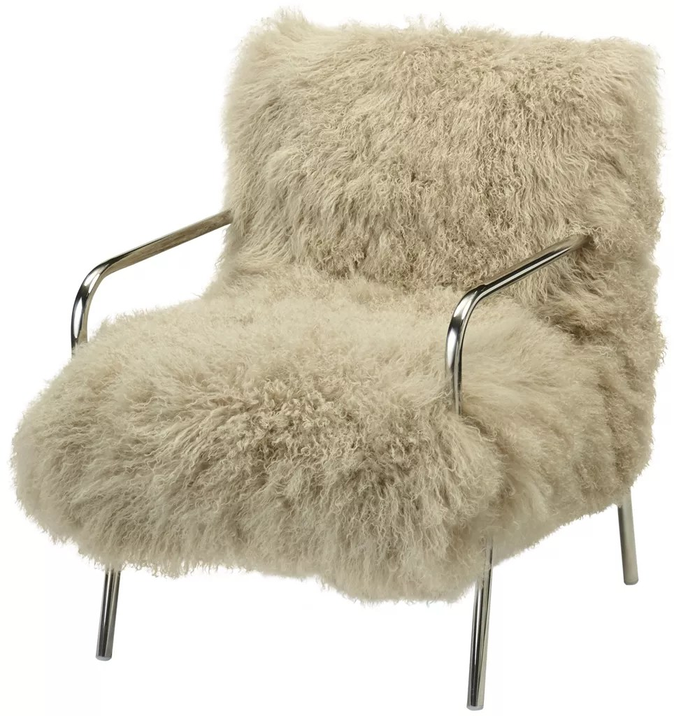 Furry Metal Chair