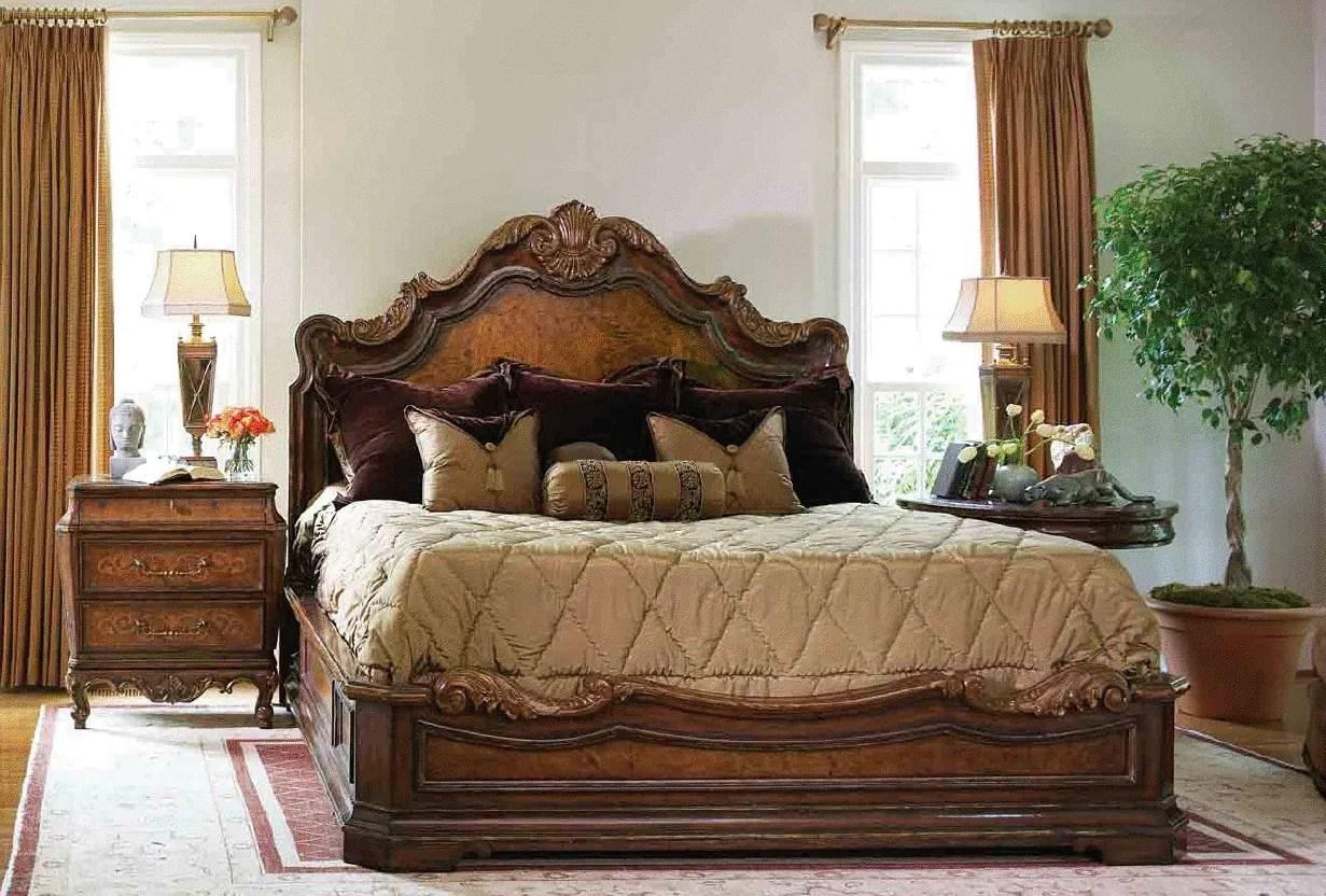 High End Master Bedroom Set Platform Bed