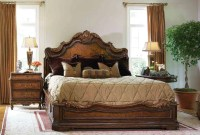 High end master bedroom set, platform bed.