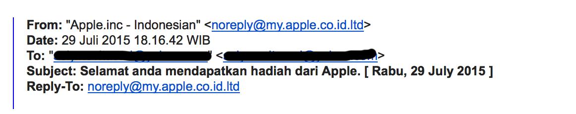 Email pengirim