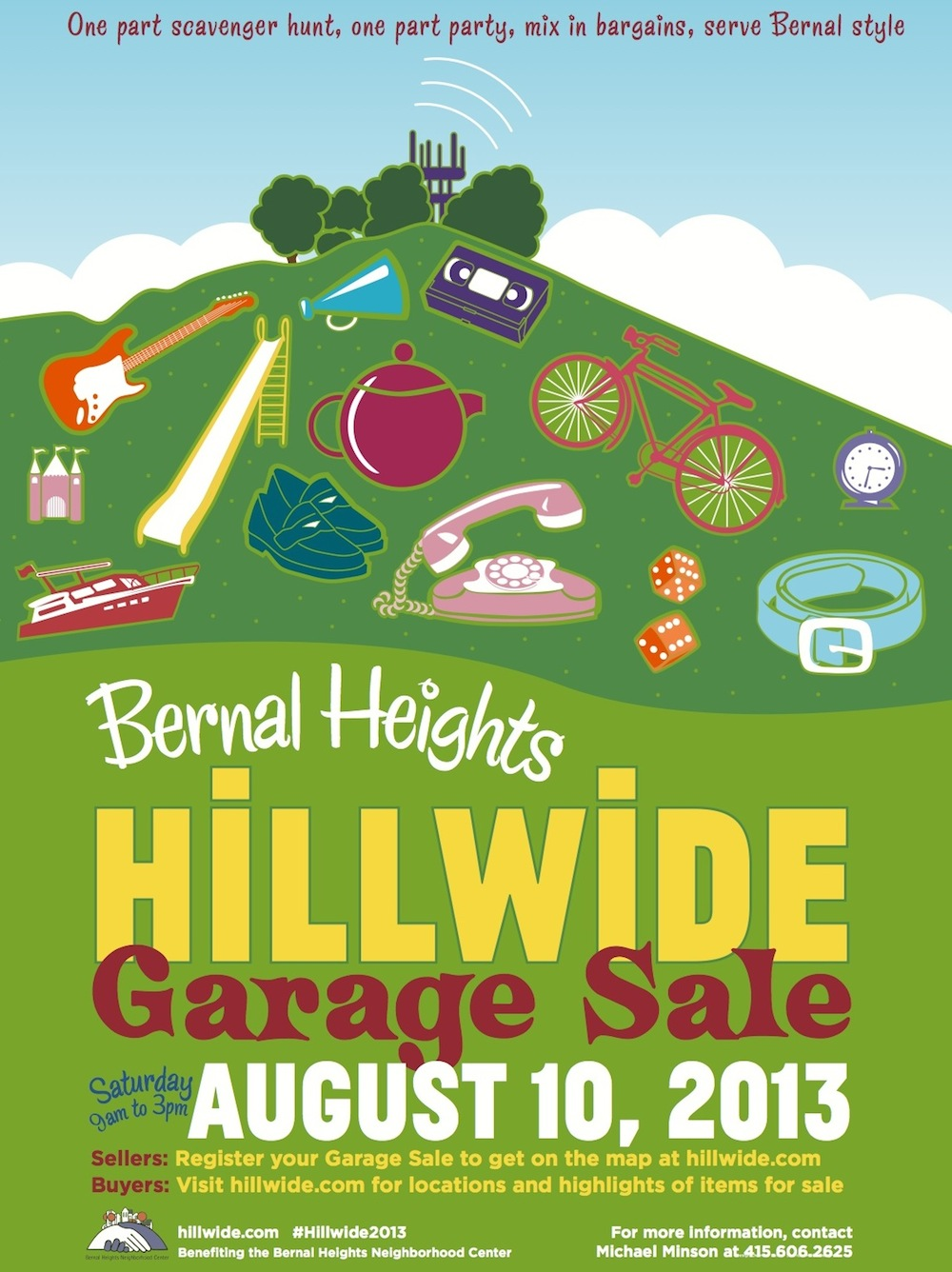 Saturday Use This HighTech Treasure Map to Plunder the 2013 Bernal Heights Hillwide Garage