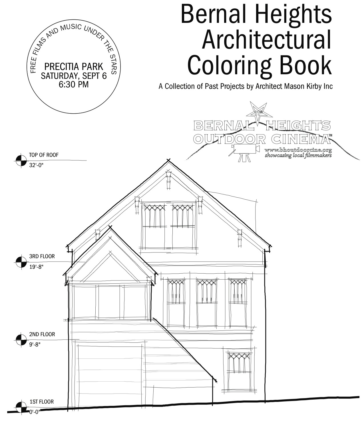 "New ""Bernal Heights Architectural Coloring Book"