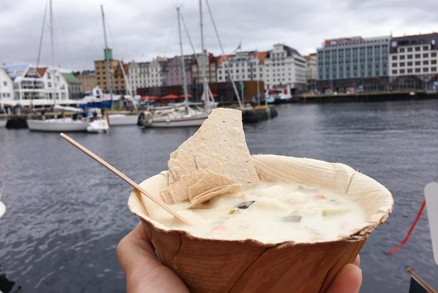 Meşhur Norveç Bergen balık çorbası