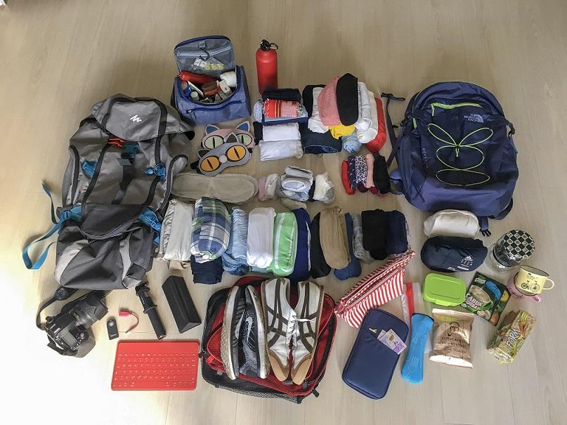 Interraile giderken çantada eşyalar az olmalı!