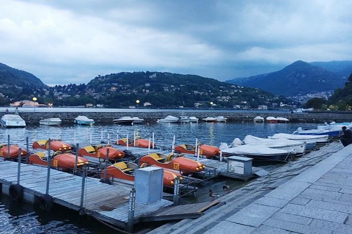 Gün batımı Como Gölü