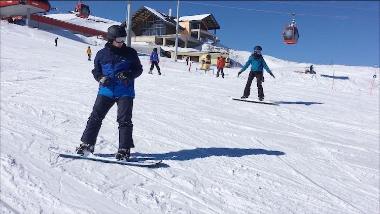 Erciyes Snowboard alıştırmaları