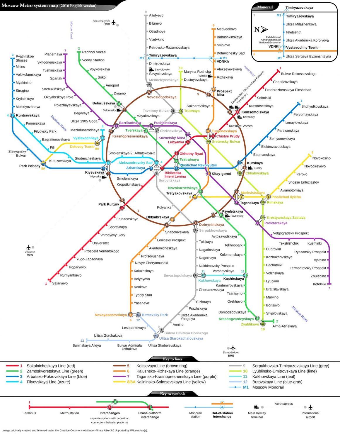 Moskova metro haritası