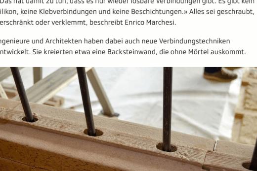 Screenshot Ausschnitt Artikel Baurecycling