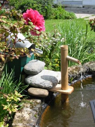 Fontaine sur le bassin