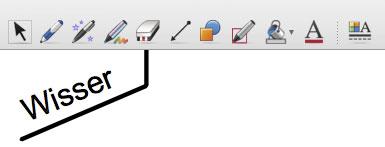 Wisser in Notebook werkbalk