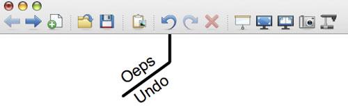 Oeps knop (ofwel de Undo knop)