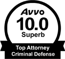 AVVO 10.0 Superb Rating, Criminal Defense