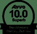AVVO 10.0 Superb Rating, Criminal Defense