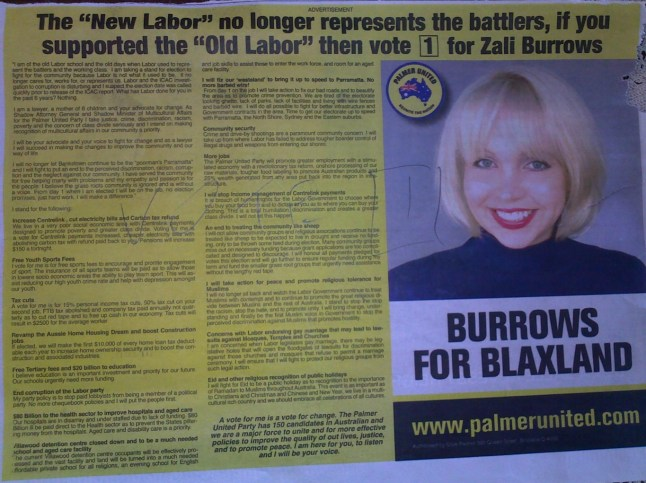 Zali Burrows leaflet 3