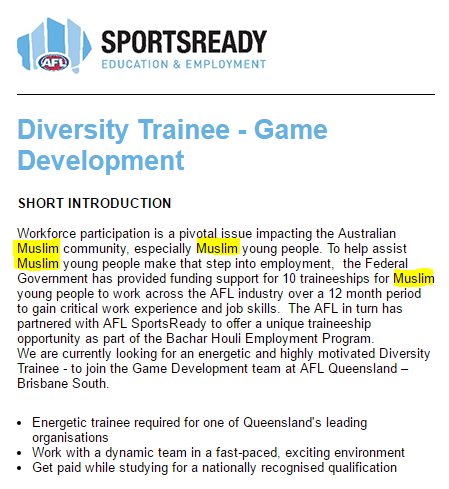 Islam AFL job