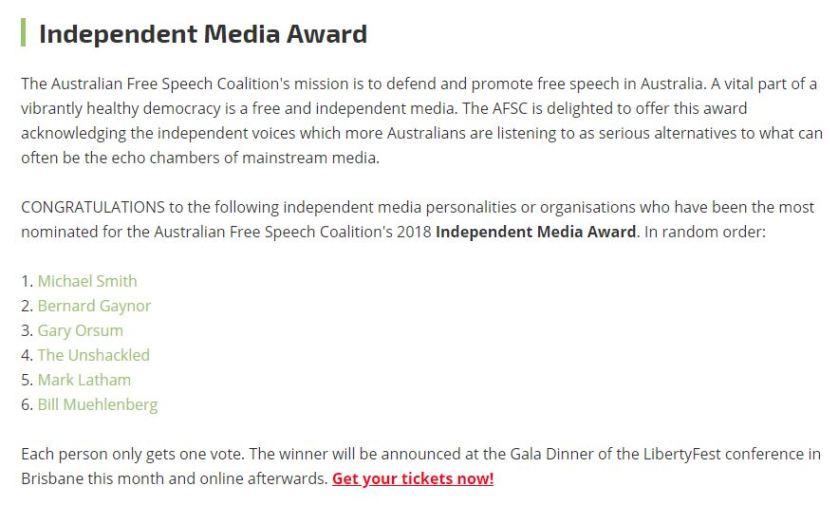 Independent Media Award