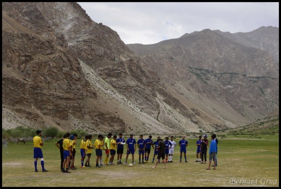 Football tournament in mountains Pamiri people, Tusion, Badakhshan, Tajikistan 03/08/2013