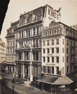 Knox Hatters at 216 Broadway in Lower Manhattan, 1895