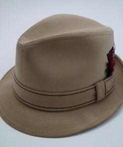 Resistol Self Conforming Tan Suede Trilby Fedora Hat