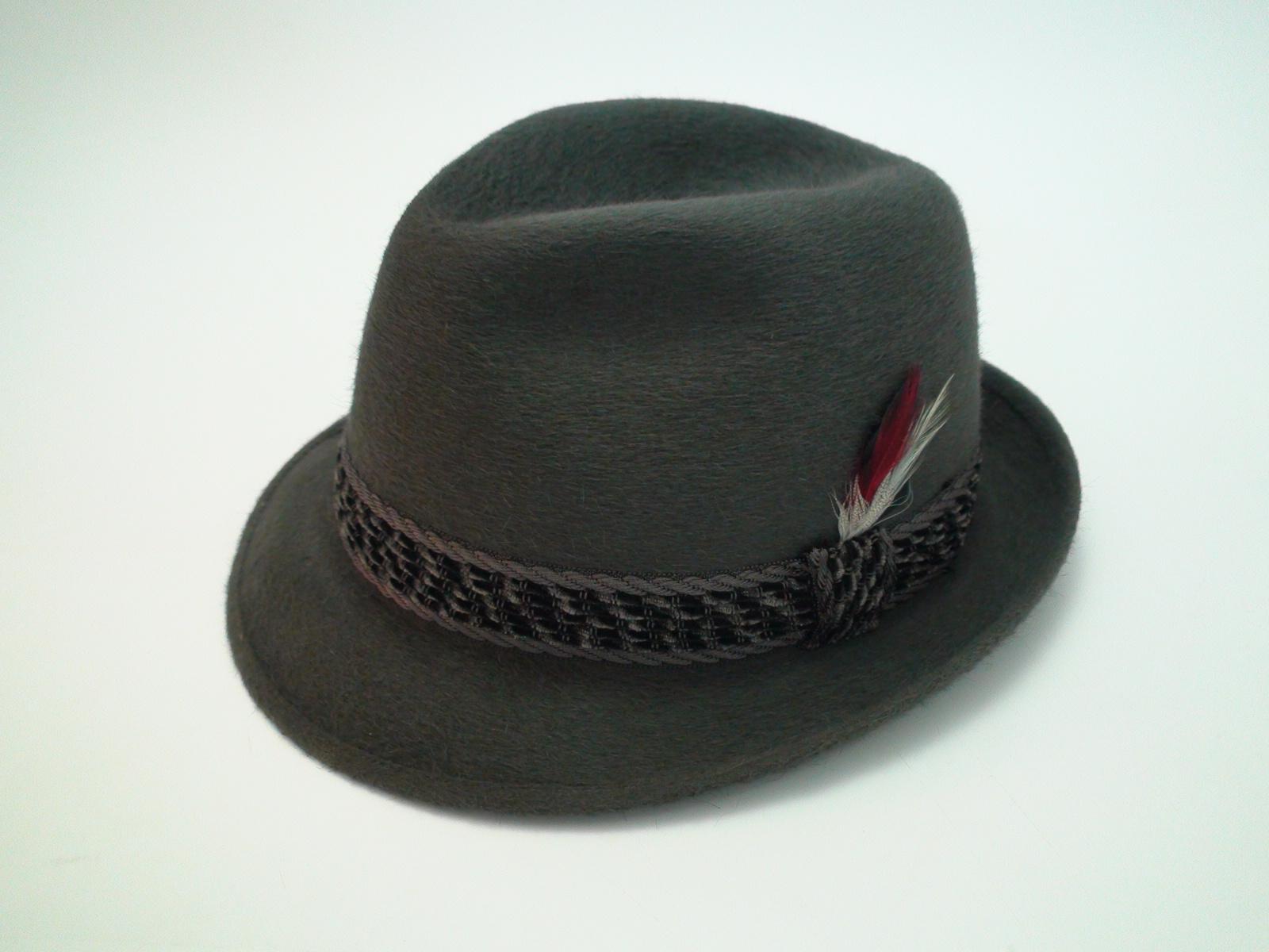 Vintage Dobbs Fifth Avenue New York Charcoal Fur Felt Fedora Trilby Hat  Size 7 1 4″ 4c41ed6a56e