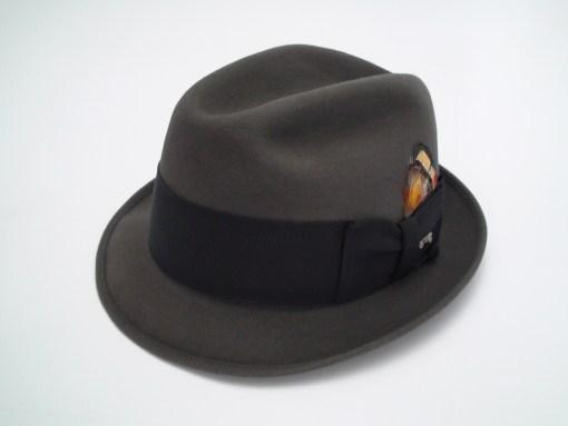 Champ Hats Feel The Felt Kasmir Finish Gray Fur Felt Trilby Fedora Hat