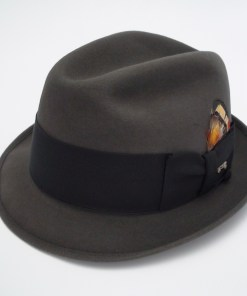 62bd364e3831c Champ Hats Feel The Felt Kasmir Finish Gray Fur Felt Trilby Fedora Hat