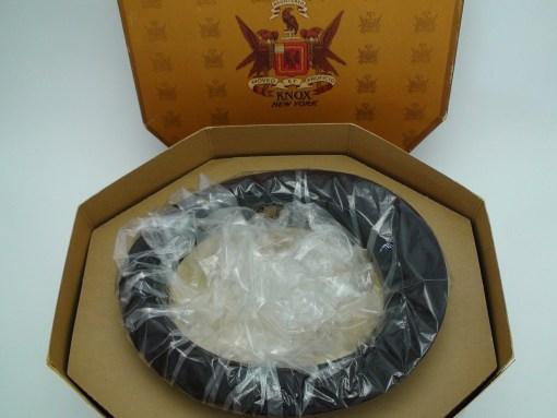 Knox New York Custom Edge Charcoal Brown Fur Felt Fedora Hat