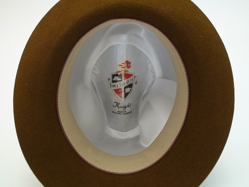 Smithbilt Hats Knight Chocolate Brown 100% Fur Felt Fedora Hat