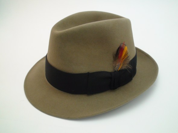 Vintage Royal Stetson Saxon Bark Color Fur Felt Fedora Hat cc87fb0b50ba