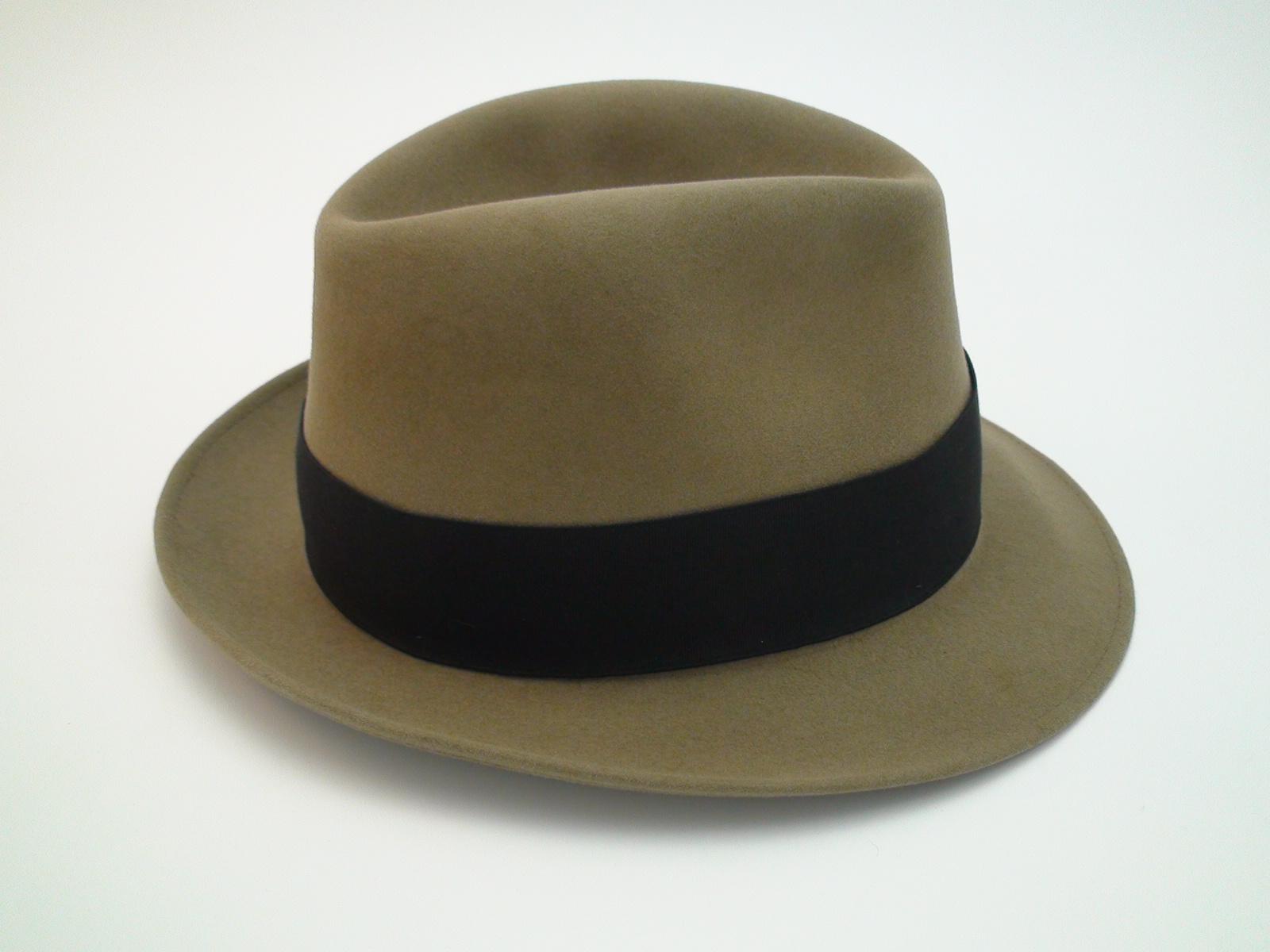 24b47fea29b7f Vintage Royal Stetson Saxon Bark Color Fur Felt Fedora Hat