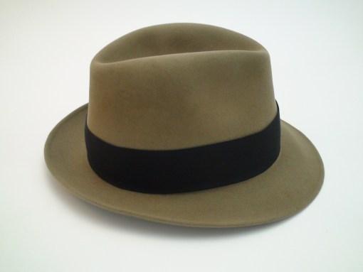 Vintage Royal Stetson Saxon Bark Color Fur Felt Fedora Hat