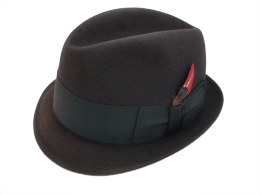 Resistol 3X Beaver Kitten Finish Dark Brown Fedora Hat