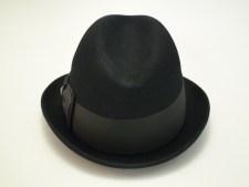 Adam Fifth Avenue Premier Black Fur Felt Fedora Hat