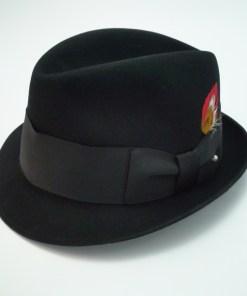 Adam Fifth Avenue Jaguar Harvard '40 Black Fur Felt Fedora Hat