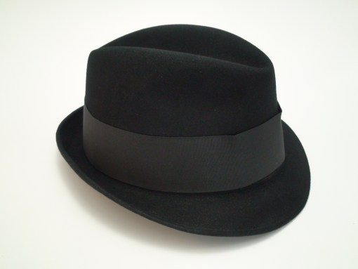 Adam Fifth Avenue Jaguar Harvard '40 Black Fur Felt Fedora Hat