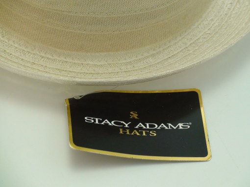 Stacy Adams Hats Sinamay Hemp Brim Ivory Fedora Hat