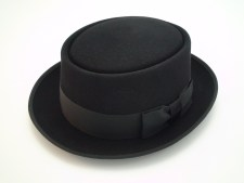 Christys London Pork Pie Black Fine Fur Felt Fedora Hat