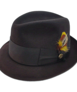 Beaver Brand Hats 100% Pure Beaver Dark Brown Fedora Hat