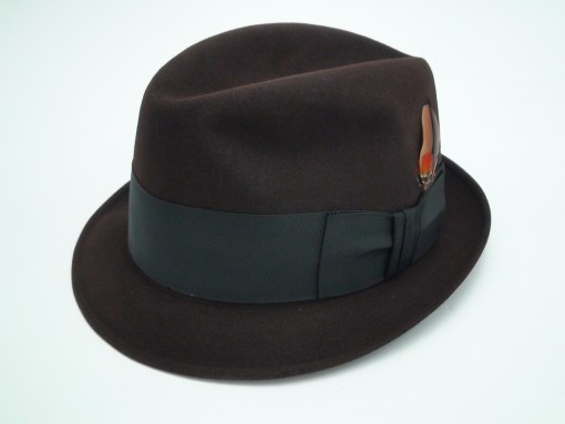 Knox Twenty New York Custom Edge Brown Fur Felt Fedora Hat