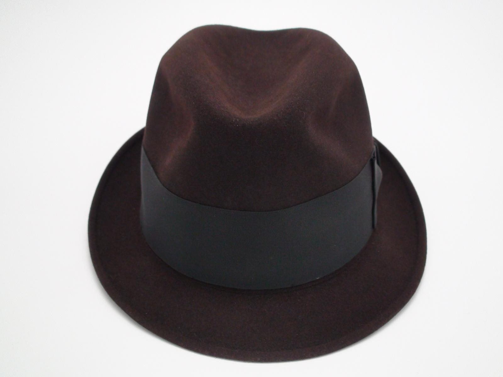 c6e458cf201c4 ... best price knox twenty new york custom edge brown fur felt fedora hat  3c9d4 41215