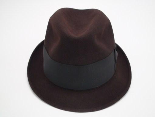 Knox Twenty New York Custom Edge Brown Fur Felt Fedora Hat