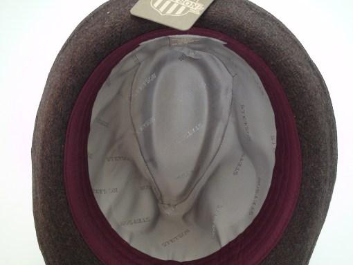 Stetson Herringbone Fedora Brown Wool Blend Trilby Hat