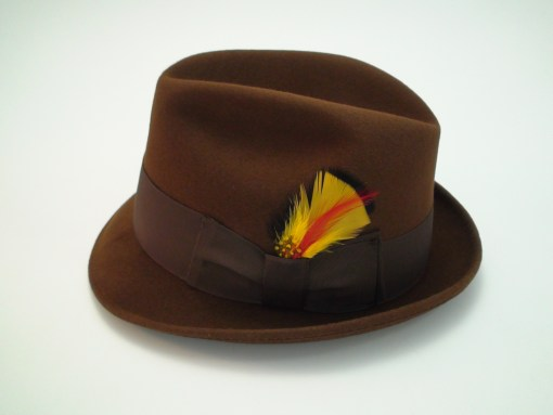Beaver Brand Hats Brown Imported Coney Fur Felt Fedora Hat
