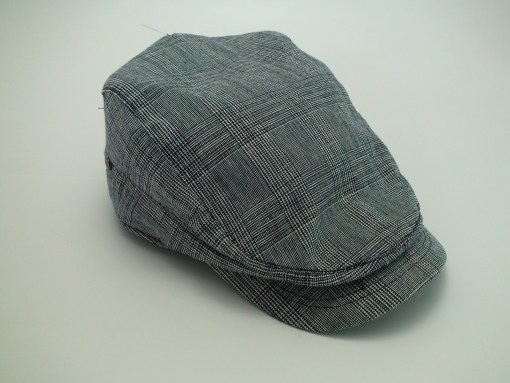 Stetson Herringbone Navy Ivy 100% Cotton Golf Driving Flat Cap
