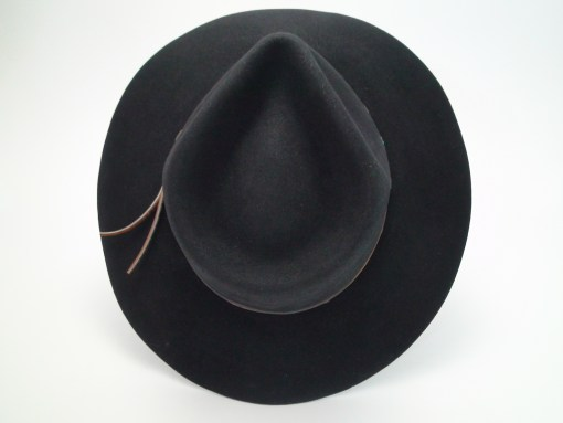 Borsalino Grand Prix Paris 1900 Antica Casa Black Fur Felt Cowboy Hat