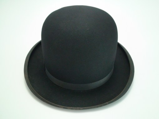 Stetson Black Fur Felt Bowler Derby Hat