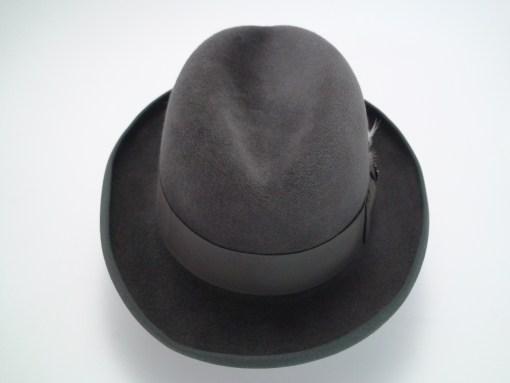Biltmore Golden Pheasant Carbon Grey Fur Felt Homburg Fedora Hat